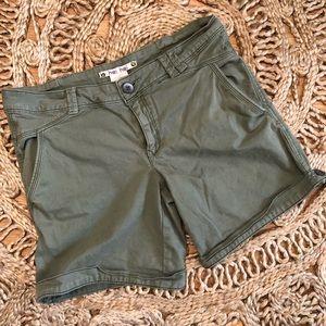 Anthropologie Hei Hei Green Khaki Cargo Shorts 8